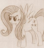 Fluttershy is Not Amused by CuriousInferno