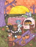 Punkin pie party by weirdwolfoflondon