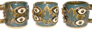 Eye Cup #18 With Cannabis by aberrantceramics