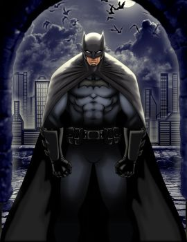 Batman in the shadows by AbelToDesign
