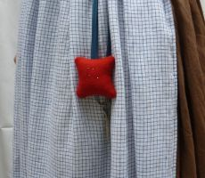 red wool pincushion by FashionableFrolick