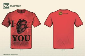 I LOVE YOU nerd style by LizoDesigns