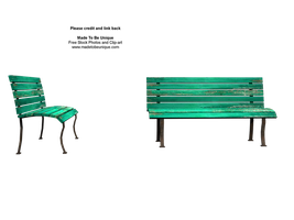 Sit with me green stock bench by madetobeunique