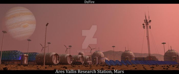 Mars Colony by dzfire