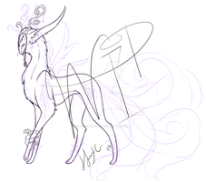 Some hybrid forest spirit... thing... thing [WIP] by nocturnefox