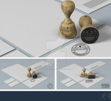 DOA Rubber Stamp and Stationery Mock Up by design-on-arrival