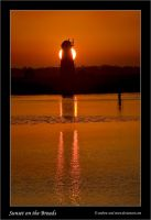 Sunset on the Broads by Andrew-and-Seven