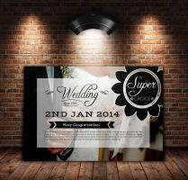 Wedding Invitation Post Card by Designhub719