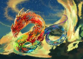 Rainbow Dragon by Yuuza