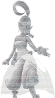 ASCII Art: Sharah the Genie by yonicdeviant