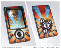 Microsoft Zune 30GB Skin by Artistpavel