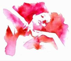 Woman water color by curryQ