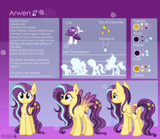 Arwen Reference Sheet by Kaiilu