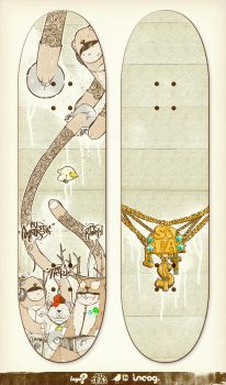 Logo? skateboards deck design by incogburo