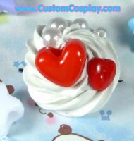 Red hot hearts ring by The-Cute-Storm