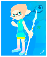 Splatoon - Crossover Pearl of Steven Universe by DJUMD