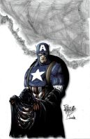 Captain America Coloured by NineteenPSG