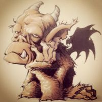 Gargoyle_fellowbored by GabrieleDerosasArt