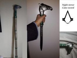 Night-Terror Cane-sword by Ronaanah