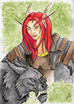 WoW: Hunter aquarelle doodle by Eleweth
