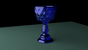 Glass cup render test by GhostingFish