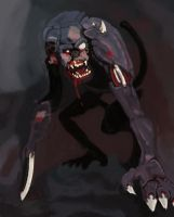 ZOMBIE MONKEY by seangore