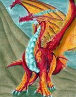 Red Dragon:Colored - Trad. by IKilledSociety