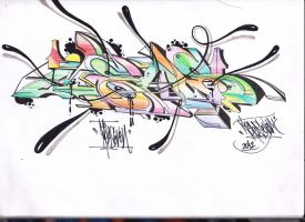Just Artwork on My Blackbook Meas7 by TheDibsDibs