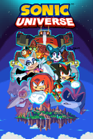 Archie's Sonic Universe 67 pixel cover by RyanJampole