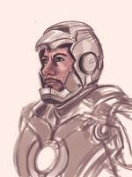Iron Man Sketch by pandatails