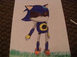 Metal Sonic .:colored:. by migi64