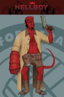 Hellboy pin-up by silentsketcher