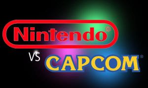 Nintendo vs Capcom logo by Guyverman