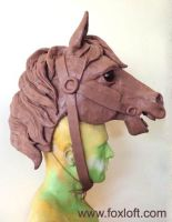 Carousel Horse Mask - WIP by Foxfeather248