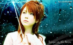 Wall Reina in the Rain ver 2 by RainboWxMikA