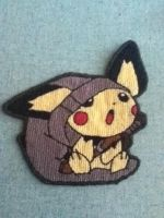 Cross-stitch: Pichu finished by metalxupxyourxass