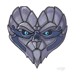 Mass Effect 2 Garrus Valentine card by Agregor