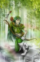 Commision: Assassin in the Leaves by Hi-Agni