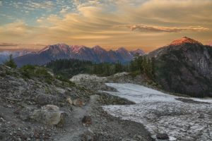 Mount Shuksan at sunset by arnaudperret
