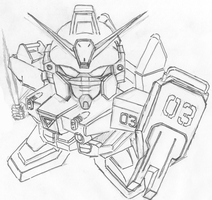 RX-79 BD-3:Gundam Blue Destiny by blue-destiny