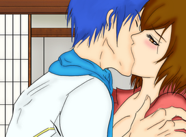 Kaito and Meiko by Pink-Snowbunny