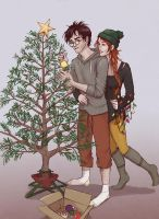 Harry and Ginny's first Christmas by uknow-who