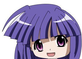 My first drawing of anime in paint- Rika Furude by MaguiPinkie