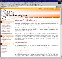 Ibiza Property Portal Site by infodesh