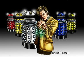 Dr Who Vs The Daleks-Coloured by Bungle0