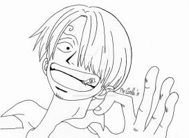 Sanji line art by airforlife2011