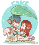 Jerza Week - Day 2 - Cake by kala-k