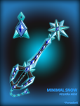 Minimal Snow Keyblade by portadorX