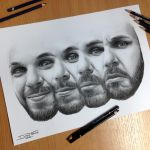 Me my self and I Pencil Drawing by AtomiccircuS