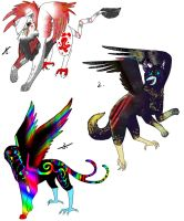 Owl City Griffon Adoptables [CLOSED] by Squidoptables